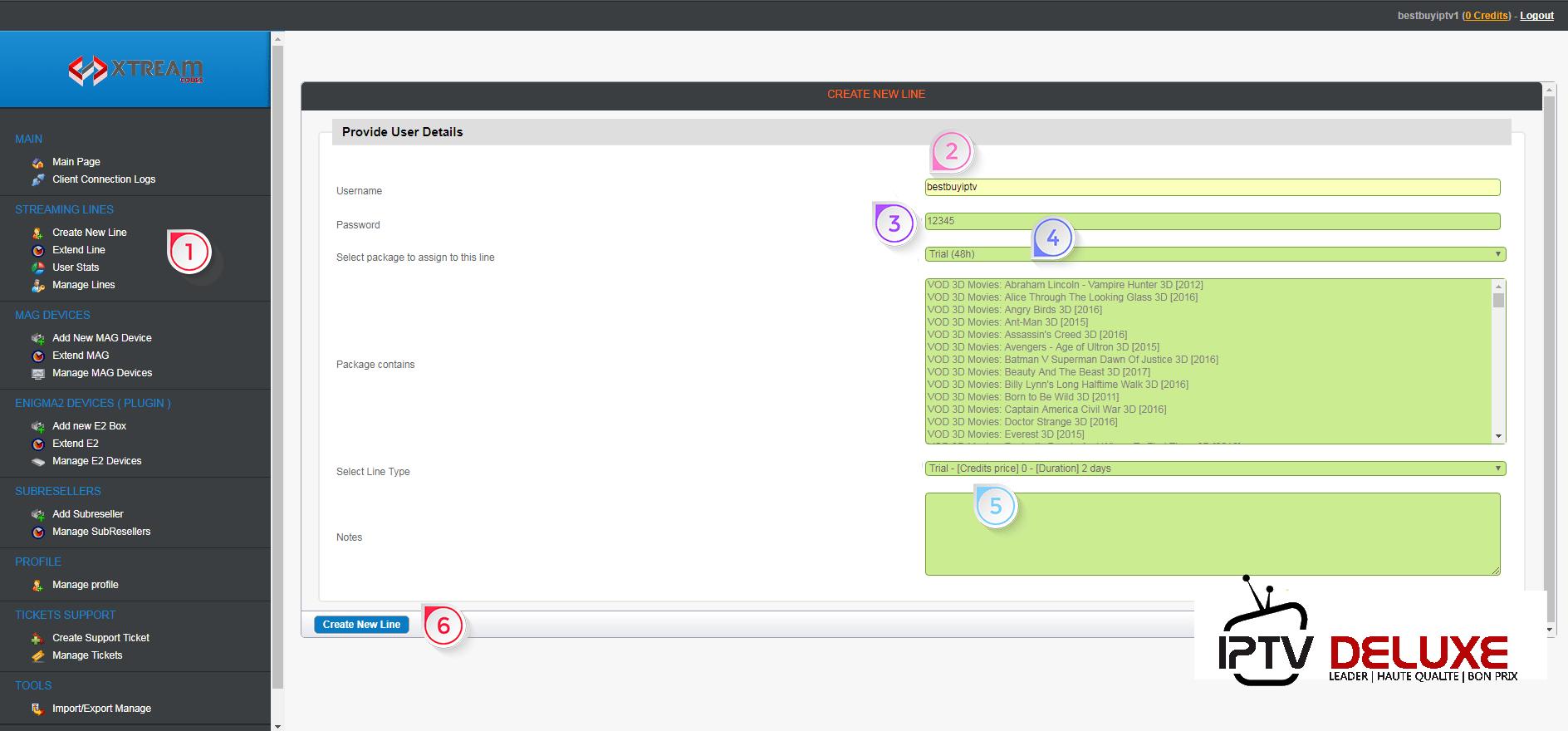 Télécharger et copier lien fichier M3U pour votre client